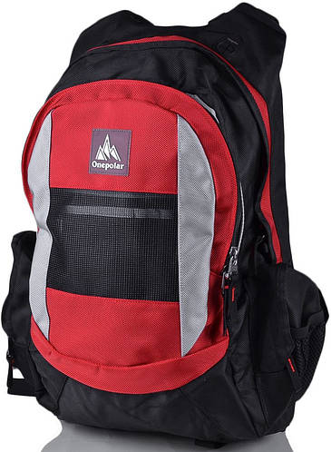 Мужской удобный треккинговый рюкзак ONEPOLAR (ВАНПОЛАР) W918-red красный