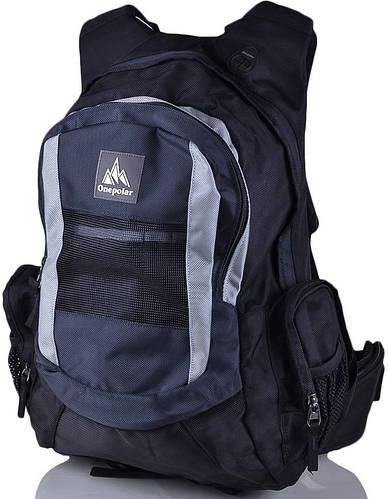 Мужской стильный треккинговый рюкзак ONEPOLAR (ВАНПОЛАР) W918-grey серый