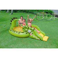 """Надувной детский игровой центр - бассейн Intex, 57132 """"Крокодил с горкой"""""""