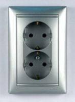 Розетка электрическая 2х2К+З со шторками (16А, 250В , автоматические клеммы, немецкий стандарт) в компле
