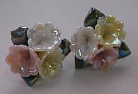 Серьги-гвоздики из полимерной глины № 3 с эмалью от Студии  www.LadyStyle.Biz