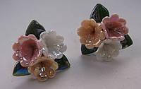 Серьги-гвоздики из полимерной глины № 4 с эмалью от Студии  www.LadyStyle.Biz
