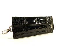 Ключница кожаная Desisan 204 черная лаковая, расцветки в наличии