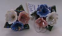 Серьги-гвоздики из полимерной глины № 6 с эмалью от Студии  www.LadyStyle.Biz
