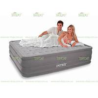 Надувная матраc - кровать Intex, 66958 полуторная с насосом (203*152*46 см)