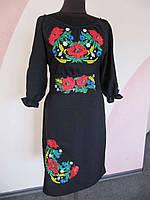 Платье с вышивкой Цветы в ночи (Платья с вышивкой в украинском стиле)