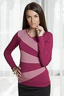 Блузка женская из вискозы с длинным рукавом, распродажа. Модель 261 Mirabelle.