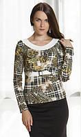 Блузка женская зеленого цвета с длинным рукавом, распродажа. Модель 263 Mirabelle.