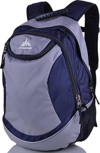 Стильный рюкзак унисекс молодежный 25 л.Onepolar W1675-navy синий