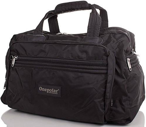 Дорожная сумка из полиэстера 50 л. Onepolar (Ванполар) черная Артикул: WA807-black