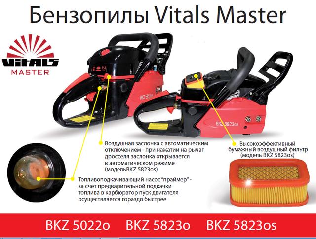 Бензопила цепная Vitals Master BKZ 5022o - праймер, фильтр фото 4