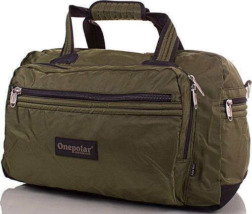 Мужская вместительная дорожная сумка 50 л. Onepolar WB807-green