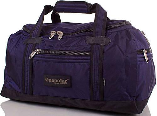 Мужская дорожная сумка 30 л. Onepolar WB809-navy синяя