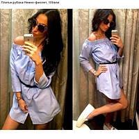 Платье рубаха Нежно-фиолет