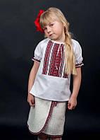 Вышиванка детская с коротким рукавом для девочки