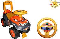 Автомобиль каталка Автошка. Вес ребенка до 30 кг. ФЛАМИНГО + код MFL-013117-01BEZ