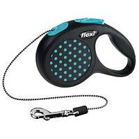 Trixie flexi DESIGN XS поводок-рулетка (трос) для собак до 8кг, 3м