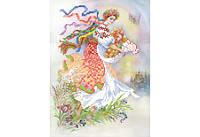 Габардин с нанесенным рисунком «ВОСКРЕСНЕТ УКРАИНА»
