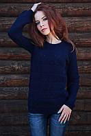 "Женский свитер ""Мозаика"", тёмно-синий"