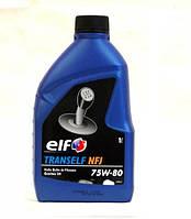 Масло трансмисионное в КПП Tranself NFJ 75W80 1L- полусинтетика. Производитель  Elf Франция.