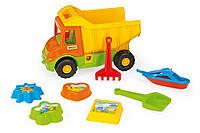 Игрушечный грузовик Wader с набором для песка из 8 элементов