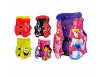 Жилет для малышей 3-6 лет MS 0499, с разными расцветками из мультиков, многокамерный, застёжки, подголовник