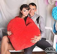 Плюшевая подушка сердце 55 см , купить сердце