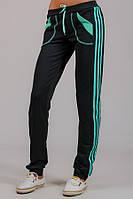 Женские спортивные брюки трикотажные Стрелки (черные)