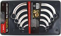 """Набор ключей накидных """"Полумесяц"""" (10-22мм), 5 предметов AmPro T42450"""