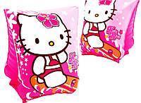 Нарукавники для маленьких девочек, розовые, с кошечкой, на возраст 3-6, сверхпрочный износоустойчивый материал