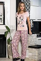 Комплект для дома с брюками, женская пижама