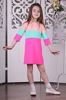 Детское нарядное платье для девочки BR-32 розовое