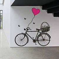 Наклейка виниловая  Bicycle Велосипед