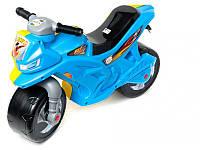 Каталка-мотоцикл детская 501 Орион (желто-голубая)