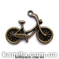 """Метал. подвеска """"велосипед"""" бронза   (2,7х1,9 см) 6 шт в уп."""