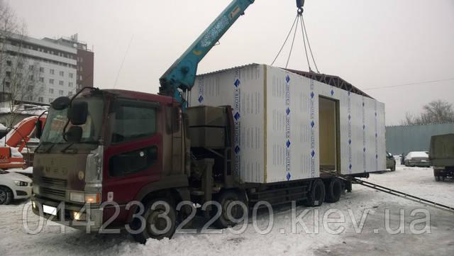 перевозка блок контейнеров манипулятором