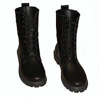 Ботинки демисезонные детские Берцы кожаные военные