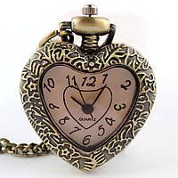 Часы-подвеска Сердце с кварцевым механизмом