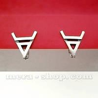 Символ Велеса серьги-амулет из серебра