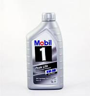 Моторное синтетическое масло MOBIL 1 Peak Life 5W-50 1L (ACEA A3/B3 A3/B4, VW 501.01/505.00, MB 229.3)