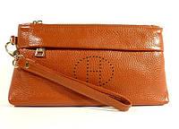 Клатч  - кошелек женский натуральная кожа коричневый Hermes