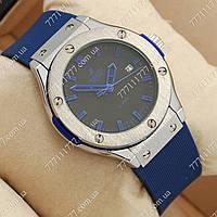 Часы мужские наручные Hublot Big Bang AA quartz Blue/Silver/Black