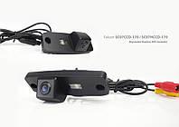 Штатная камера заднего вида Hyundai Elantra, Sonata 2011, Tucson (Falcon SC07НСCD-170-R)