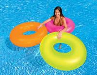 Весёлый досуг на воде с неоновым надувным кругом, для детей с 8ми лет, диаметр 0,91 м, компания Интекс