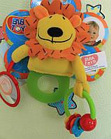 Детская игрушка от 0+ Погремушка-прорезыватель Biba Toys Львенок тм Biba Toys