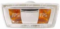 Указатель поворота на крыле Chevrolet Aveo '11- левый, серый (прозрачный) (DEPO)