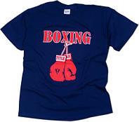 Футболка мужская с печатью Boxing Title
