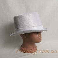 "Шляпа ""Цилиндр"", белый"
