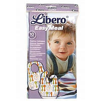 Одноразовые слюнявчики (защитные нагрудники) с карманом для крошек Либеро Изи Мил Libero Easy Meal, 10 шт