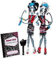 Монстер хай Мяулоди и  Пуррсифона  Танец Зомби  (Monster High Zombie Shake Meowlody and Purrsephone )